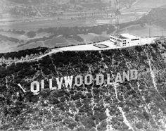 The Hollywoodland Sign, 1923-1949 - Retronaut