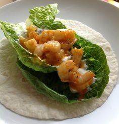 Shrimp Wraps with Cilantro, LimeDressing