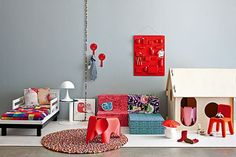 Take a minute to look at our fun bright kids room.