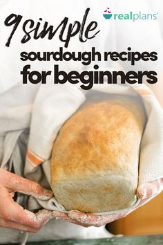 9 Simple Sourdough Recipes For Beginners Making sourdough bread can seem intimidating; this list of sourdough recipes starts with the easiest to ensure success, ending with sourdough bread - Sourdough recipes for beginners Sourdough Bread Starter, Recipe For Sourdough Bread, Sourdough Bread Machine, Sour Bread Recipe, Breadmaker Bread Recipes, Sourdough Biscuits, Sourdough Rolls, Bread Rolls, Ma Baker
