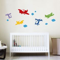 Someday - Up in the Air - Plane and Helicopter Wall Decals - set of 5