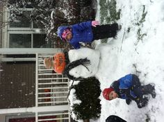 Enjoying a snow day on East Pea Ridge.