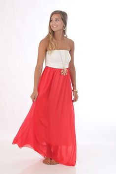 Double Take Maxi Dress, red