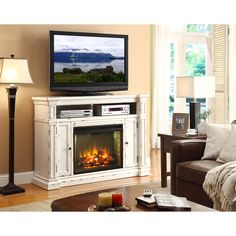 Legends Furniture New Castle 65 in. Electric Media Fireplace | from hayneedle.com