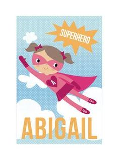 Super Girl! by Tara Lilly Studio for Minted.