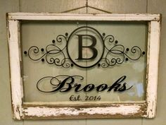 Vintage Single Pane Window Personalized by VaughnCustomCreation