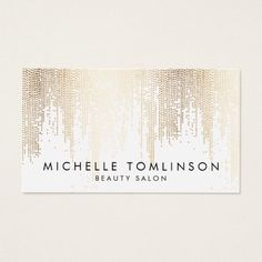 Luxe Faux Gold Confetti Rain Pattern Business Card. Visit link to see if you can save with coupon codes or promotions!