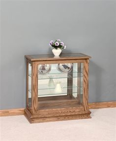 Amish Angled Console Curio Cabinet | Just Stuff | Pinterest | Consoles,  Dining And Living Rooms