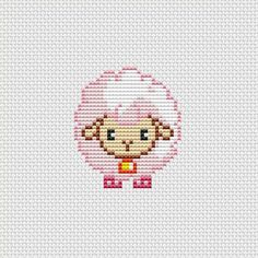 Cross stitch pattern PDF Cute sheep pink by UAHomeMadeStudio