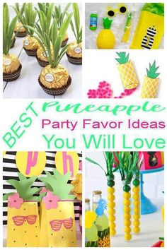 Having a Pineapple theme party and looking for some fun and great ideas for the kids to take home as party favors? We have gathered up some of the best Pineapple party favor ideas. First Birthday Party Favor, 1st Birthday Party For Girls, Girl Birthday Themes, Luau Birthday, Luau Party Favors, Wedding Favors, Flamingo, Party Themes, Goodie Bags