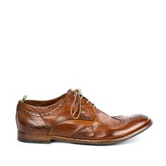 Officine Creative Anatomia 03  Lace Oxford Wingtip in Brown for Men