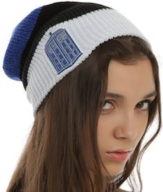 Doctor Who Stacked Tardis Beanie Hat