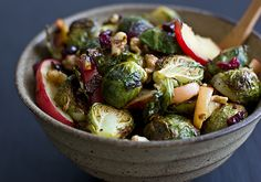 Roasted Brussels Sprouts & Apples