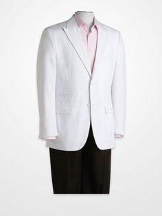 Men's Suit Separates - Steve Harvey White Suit Separates Jacket - K Fashion Superstore