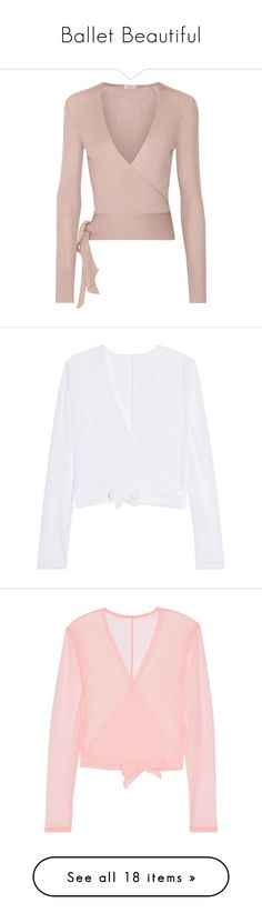 """""""Ballet Beautiful"""" by shoppings9 ❤ liked on Polyvore featuring tops, cardigans, sweaters, etro, long sleeves, pink, ribbed cardigan, cashmere wrap cardigan, wrap top and ballet wrap cardigan"""