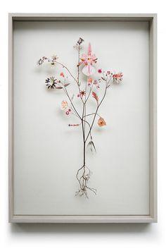 Flower construction #43 (w:50 h:70 d:6.5 cm)