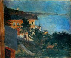 Edvard Munch (1863-1944) Moonlight over Oslo Fjord, 1891.