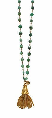 chrysoprase TASSEL necklace