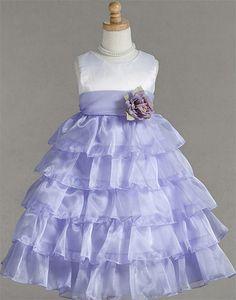Trendy Satin and Organza multi layered Dress | eFavorMart