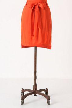 Sapporo Satin Skirt #anthropologie