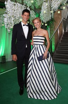 Novak Djokovic and date are at a Gala Function