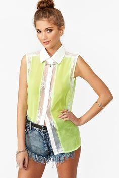SO CUTE! on sale for $18.53 (reg. $37.07) -- NastyGal.com -- Liz Lace Shirt