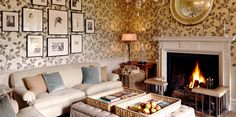 Such fantastic English style in the study at Babington House