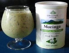 Morning Smoothie Recipe 1/2 cup organic blueberries (for antioxidants & to reduce bloating) A handful of baby spinach (for fiber and Iron) 1/2 avocado (for healthy fats) 1/2 banana (for sweetness) 1 c almond milk 1/2 to 1tsp Moringa Oleifera powder I also added a dash of turmeric, almond flour & ground flaxseed. YUM