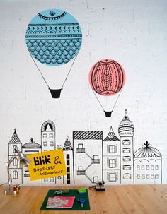 Doodle our wall - Pirichi// Illustration