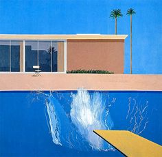 A Bigger Splash is a large pop art painting by British artist David Hockney David Hockney Pool, David Hockney Paintings, Modern Art, Contemporary Art, Pop Art Movement, Turbulence Deco, Robert Rauschenberg, Jasper Johns, Edward Hopper