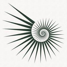 Fibonacci spirals - exploring the Fibonacci numbers in a series of illustrations. Fibonacci spirals – exploring the Fibonacci numbers in a series of illustrations : Studio Fredrik Geometric Lines, Geometric Designs, Geometric Symbols, Geometric Line Tattoo, Geometric Tattoo Pattern, Sacred Geometry Patterns, Sacred Geometry Tattoo, Posca Art, Desenho Tattoo