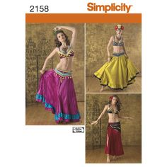 Simplicity Pattern 2158 Misses' Costumes