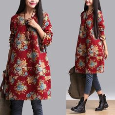 Women cotton print blouse ( I like this, but I would try to not have that seam going thru the middle and cutting it in half )