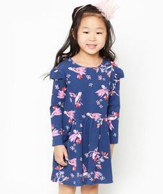 ec7d429be9d Leah Swallow Dress made of organic cotton Organic Baby Clothes