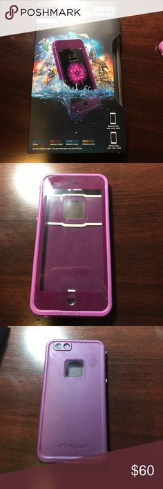 Lifeproof case Frē edition fits 6/6s plus size I phone. Purple in color. All accessories enclosed in box. Used once. LifeProof Accessories Phone Cases