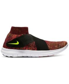 Nike Women's Free Run Motion Flyknit 2017 Running Sneakers from Finish Line - Black 8.5
