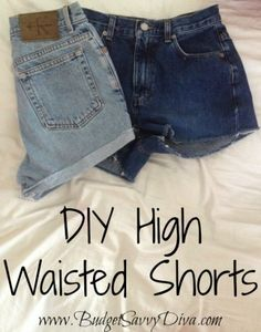 DIY High Waisted Shorts from Jeans.. maybe this will be better to follow. I ruined my last pair