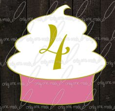 Table Numbers Sweet Cupcake by OnlyOneMarkINC on Etsy, $18.00