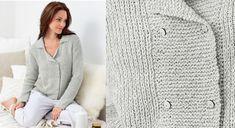 Un joli décolleté renouvelle ce modèle classique tricoté en côtes fantaisie. Réalisation plutôt conseillée aux expertes. Tailles : S / M/ L/ XL Le matériel Fil à tricoter qualité Ecoton, ...