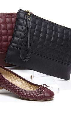 A vegan leather clutch with quilted stitching 388eee0e5fa75