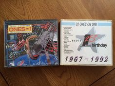 Birthday CDs (Left: 21st (1988) Right: 25th (1992))