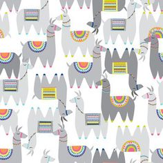 Alpaca Party by Joanna Tadger Seamless Repeat Vector Royalty-Free Stock Pattern Repeating Patterns, Pantone Color, Surface Design, Print Patterns, Royalty, Textiles, Kids Rugs, Motifs, Party