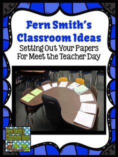Bright Ideas Blog Hop: Organizing Important Papers for Meet the Teacher Day #FernSmithsClassroomIdeas