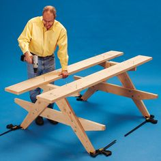 how to build a picnic table step 5