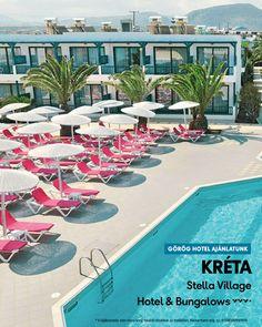 Stella Village 🧡🧡🧡+ Görögország, Kréta-Heraklion, Analipsis  www.neckermann.hu/szallas/stella-village-hotel-bungalows/53452?catalog=NAH   A strandon és a medencénél a felnőttek is kikapcsolódhatnak vagy részt vehetnek a számos sportolási lehetőség egyikén. A családi vakáció alatt garantáltan örömteli élményekben lesz része az egész családnak! Village Hotel, Naha, Bungalow, Outdoor Decor, Home Decor, Decoration Home, Room Decor, Home Interior Design, Home Decoration