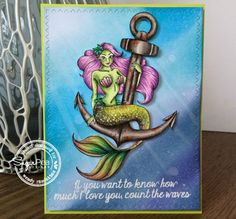 Card by Wendy Ramlakhan.  SugarPea Designs.  Stamp set: Anchored.  SugarCut dies: Zig Zag Stitched Rectangles