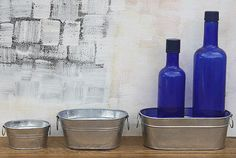 Small Metal Oval Centerpiece And Craft Tubs - Bucket Outlet
