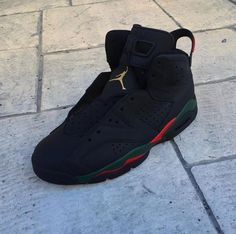 """Gucci"" Air Jordan 6 customs by quonito"
