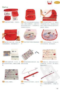 Red polkadot bag tuto #1