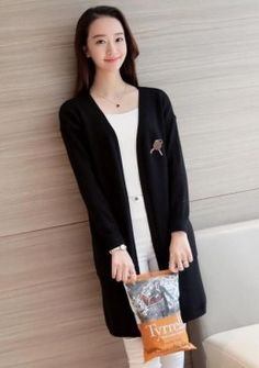 Buy Minimalist Knitted Long Cardigan | mysallyfashion.com Malaysia ...